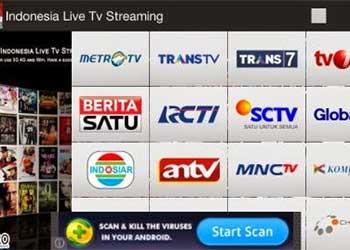 Aplikasi nonton online Indonesia Live TV