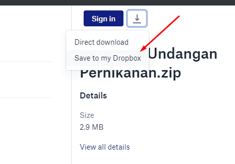 Download dari dropbox